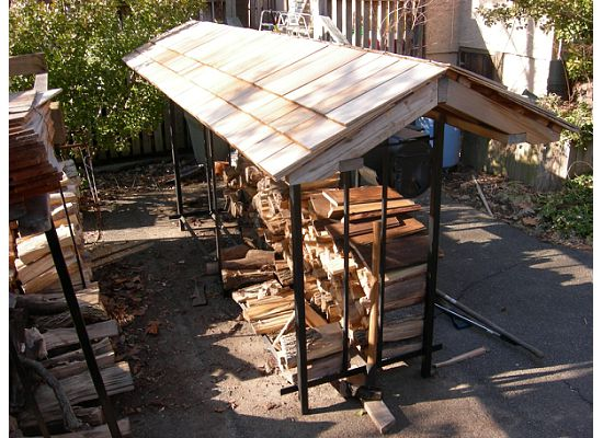 ... rack holds over a chord of firewood. Dimension of storage space are5